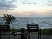 テラスから別府湾の眺望