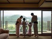 *【露天風呂付客室(一例)】最上階のパノラマビューを、ご家族で満喫してください
