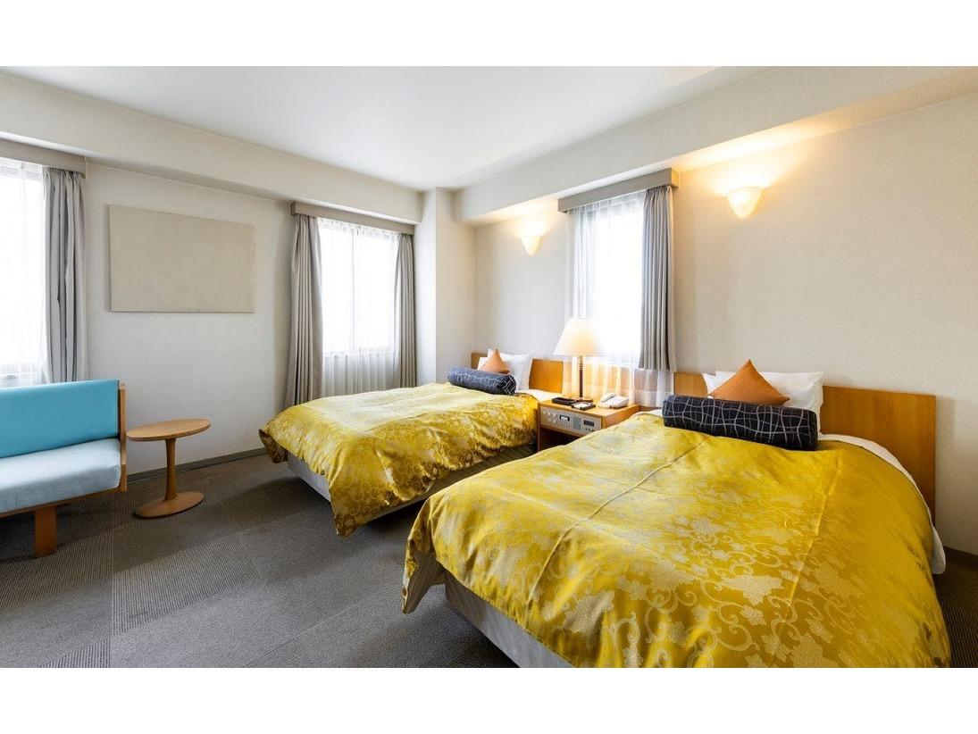 シモンズ社製ベッドが2台のツインルーム