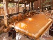【露天風呂・玉鉾の湯】有馬内でも珍しい自家源泉。良質の赤湯をお楽しみ下さい。