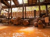 【露天風呂・阿福の湯】有馬内でも珍しい自家源泉。良質の赤湯をお楽しみ下さい。
