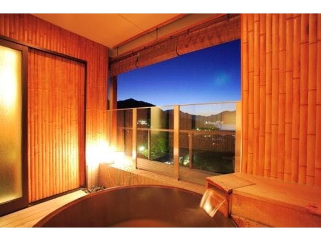 【露天風呂付】海側(厳島神社・五重塔側)数寄屋和室 露天風呂