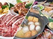 【テラスBBQセット】or【料理長手作りの創作鍋】選べる夕食