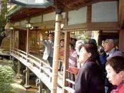 【文化財ガイド】毎日4回実施しております。(有料)修善寺や当館の歴史をご案内しております。