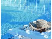 夏季限定の屋外プールイメージ