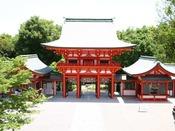 「近江神宮」大津京を造営した天智天皇を祀る。/車で14分、京阪利用で35分
