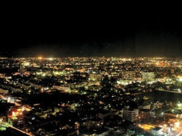 客室から見えるステキな夜景!