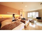お部屋からの眺めは緑水亭ならでは!和モダンスイート「嘉月」