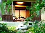 【純和風客室一例】中庭からの景色※景色は選べません
