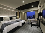 スーペリアツイン(33平米)(イメージ)・洗い場付きのバスルーム・違い棚や天袋など京都の伝統建築の意匠を再現・エキストラベッドを入れて、3名様でのご宿泊も可能