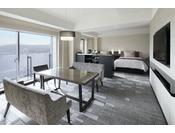 グランヴィアファミリールーム(62平米)・グランヴィアラウンジ利用可・優雅なご滞在をお約束・・・・数少ない東向きのお部屋!・最大5名様でご宿泊いただけます