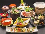 萩の海の幸・山の幸・地元野菜をふんだんにあしらった和創作会席