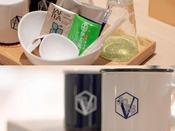 緑茶・紅茶・コーヒーのセットとオリジナルマグカップ