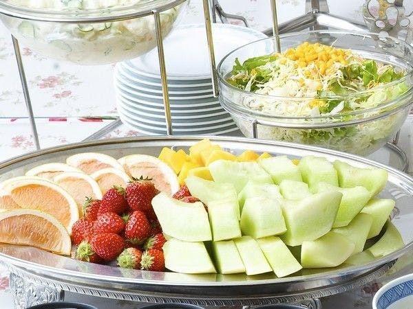 朝食バイキング一例_フルーツ・野菜