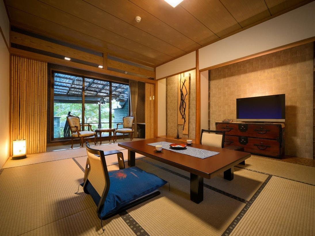 露天風呂付客室のお部屋
