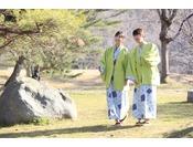 広大な敷地に広がる日本庭園