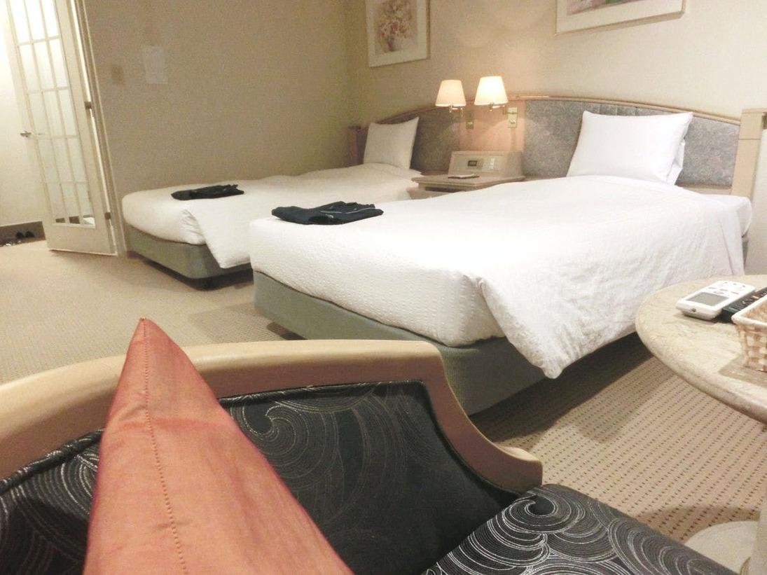 30平米もある2名様定員のお部屋、スタンダードですが広々とご利用いただけます:スタンダードツイン