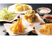 夕食天ぷら