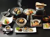 【あわび地酒蒸しプラン】※生ウニは11月上旬頃まで、それ以降は季節の地魚料理をご提供します