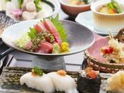 【お料理】鮟鱇鮪・贅沢セットプラン一例1