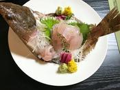 【冬のご料理例】水草鰈刺身 ※写真は2人分