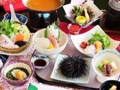 【春のお料理一例】ウニをはじめ旬のお料理