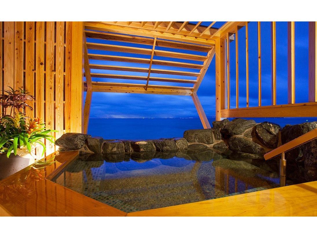 ≪貸切露天風呂≫プライベートな空間であなただけの眺望と洲本温泉をご満喫下さいませ
