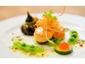 *【フランス料理】旬の食材を使用した季節感のあるメニュー。