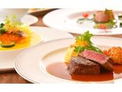 *【フランス料理】シェフ厳選の群馬の幸を盛り込んだ目にも美しいフルコース。
