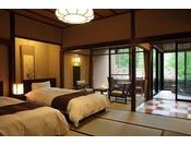 介山荘半露天風呂付き和風べっどるーむ◇和室10畳+広縁