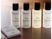 ラグジュアリーフロア『Aqua(アクア)』にご用意するのアメニティ、「ミラーハリス」。ボタニカル(植物由来原料)にこだわった上品な香りをお楽しみください。