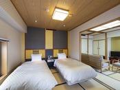 10畳+6畳シモンズ製ベッド付2間つづき和室【 優雅】-禁煙- 一例(2019年12/21~)