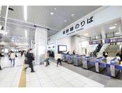 浜松駅の改札を出て、北口に進みます。