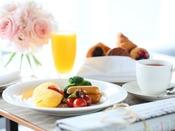 【朝食】*イメージ*ブッフェスタイルでお好きなものをお好きなだけお召し上がりください。