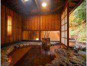 【朱花】石造りの内風呂