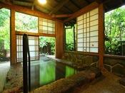 【石竹】石造りの露天風呂