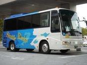 関西空港へはシャトルバスで約15分です。