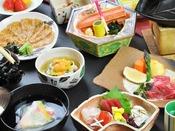 【美味少量会席】 お料理一例。量より質重視の方にもお勧めです。