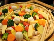 【温野菜】健康レストラン『月の座』約60種類のマクロビオティックビュッフェのお料理。(一例)