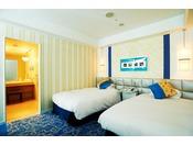 ジュニアスイートツイン ベッドルーム一例