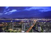 本館ミッドセンチュリーフロアなど高層階からの神戸市街地の夜景(イメージ)