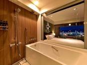 プレミアダブル バスルームからの夜景(一例)