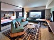 本館24階プレミアスイート1室最大5名様まで宿泊可能な特別ルーム。