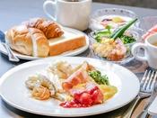 【和洋ビュッフェ朝食】盛り付け例(洋風)
