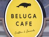 BELUGA CAFE エントランスサイン