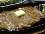 ◆伊豆牛ステーキ(イメージ)/ぽん酢、生山葵、岩塩でお召し上がり下さい。