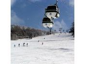 当館から徒歩すぐの白樺高原国際スキー場でスキーを楽しもう♪