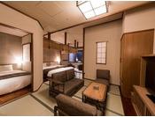 48平米あるゆとりの空間に4つの和ベッドを配し、ファミリーやグループでのご旅行にぴったりのお部屋です。4名様のご利用なら当館で最もリーズナブルにお泊り頂けます。