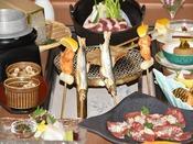 【囲炉裏特別会席】夕食は北海道の味覚を堪能♪