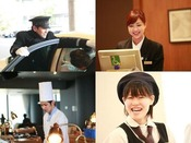ポートピアホテルのスタッフはいつもアットホームな笑顔でお客様をお迎えします!